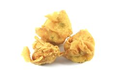 Fried Wanton Chinese Dumplings stock photography