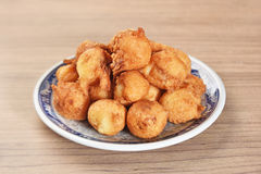 Fried water chestnuts. The popular snacks in Taichung, Taiwan royalty free stock photo