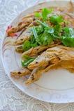 Fried Whisker Sheatfish Stock Images