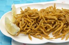 Fried whitebait Stock Photo