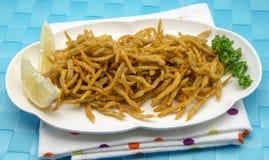Fried whitebait Royalty Free Stock Image