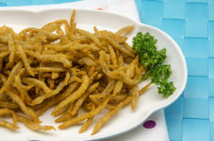 Fried whitebait Stock Photo