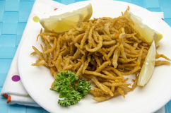 Fried whitebait Royalty Free Stock Image