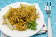 Fried whitebait Royalty Free Stock Photo