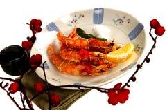 Fried Whole shrimp Royalty Free Stock Photos