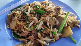 Fried Wide Rice Noodles de Malasia fotos de archivo