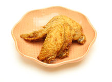 Fried wingtip on a dsih Royalty Free Stock Image
