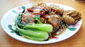 Fried Won Ton Noodles Royalty Free Stock Photography