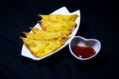 Fried wonton Stock Photo