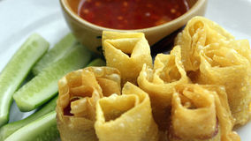 Fried Wonton Thailand Royalty-vrije Stock Foto
