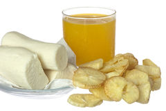 Fried yucca and yucca bread Stock Photography