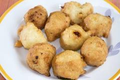 Fried zeppole of St Joseph Stock Image