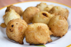 Fried zeppole of St Joseph Royalty Free Stock Images