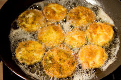 Fried zucchini Royalty Free Stock Images