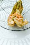 Fried zucchini blossom Stock Photo