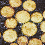 Fried zucchini (eggplant) Royalty Free Stock Image