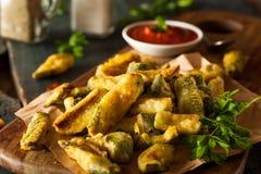 Fried Zucchini Fries casalingo Fotografia Stock Libera da Diritti