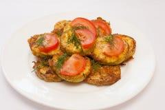 Fried zucchini homemade Stock Photos
