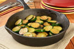Fried zucchini Royalty Free Stock Photo