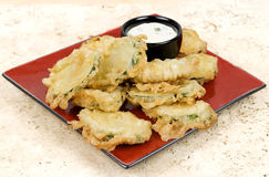 Fried Zucchini Slices frais Image libre de droits