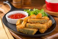 Fried Zucchini Sticks profundo Foto de Stock