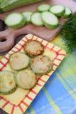Fried zucchini Stock Photos