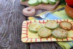 Fried zucchini Stock Photography