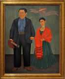 Frieda and Diego. Pic of Frida Kahlo painting named Frieda and Diego, taken at the MOMA Museum Of Modern Art of San Francisco
