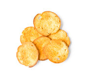 FriedA round rusks Royalty Free Stock Image