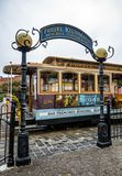 Friedel Klussmann Memorial Turnarounds, Historische Kabelwagen, lijn powell-Hyde op 17 Augustus, 2017 - San Francisco, Californië Stock Afbeeldingen