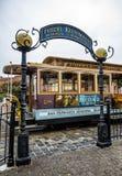 Friedel Klussmann Pamiątkowi zwroty, Historyczny wagon kolei linowej, Hyde linia na Sierpniowy 17th, 2017 - San Fransisco, Kalifo Obrazy Stock