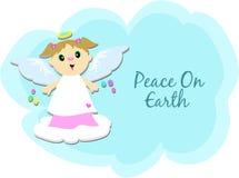 Frieden auf Erde-Engel lizenzfreie abbildung
