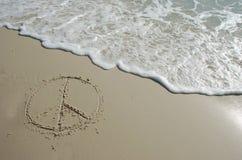 Frieden auf Strand Lizenzfreies Stockbild