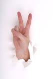 Frieden auf Weiß Lizenzfreies Stockbild