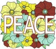 Frieden. Blumenabbildung Lizenzfreies Stockfoto