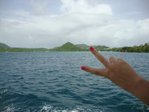 Frieden an Bord stockbild