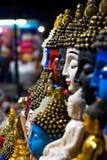 Frieden in den verschiedenen Farben Budha stockfoto