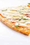 Frieden der geschmackvollen Pizza lokalisiert Lizenzfreies Stockfoto