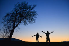Frieden in der Natur, im Glück und in der Freude Stockfoto