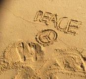 Frieden durch den Ozean Stockbilder