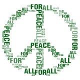 Frieden für alles weiße BG Lizenzfreie Stockfotografie