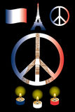 Frieden für Paris stock abbildung