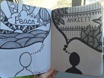 Frieden gegen Angst Lizenzfreie Stockbilder