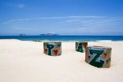 Frieden im Ipanema Strand Stockbilder
