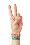 Frieden, Liebe und Freude Stockbild
