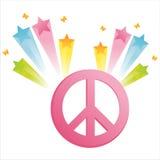 Frieden mit Sternspritzen Stockbilder