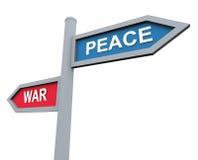 Frieden oder Krieg lizenzfreie abbildung
