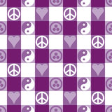 Frieden Plaid_Purple Lizenzfreies Stockbild