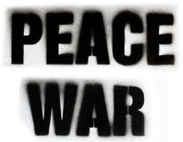 Frieden und Krieg Stockfotografie