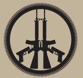 Frieden und Krieg Stockfoto